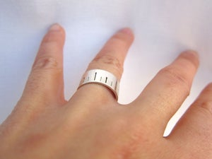 Image of Ruler ring - handmade silver ring