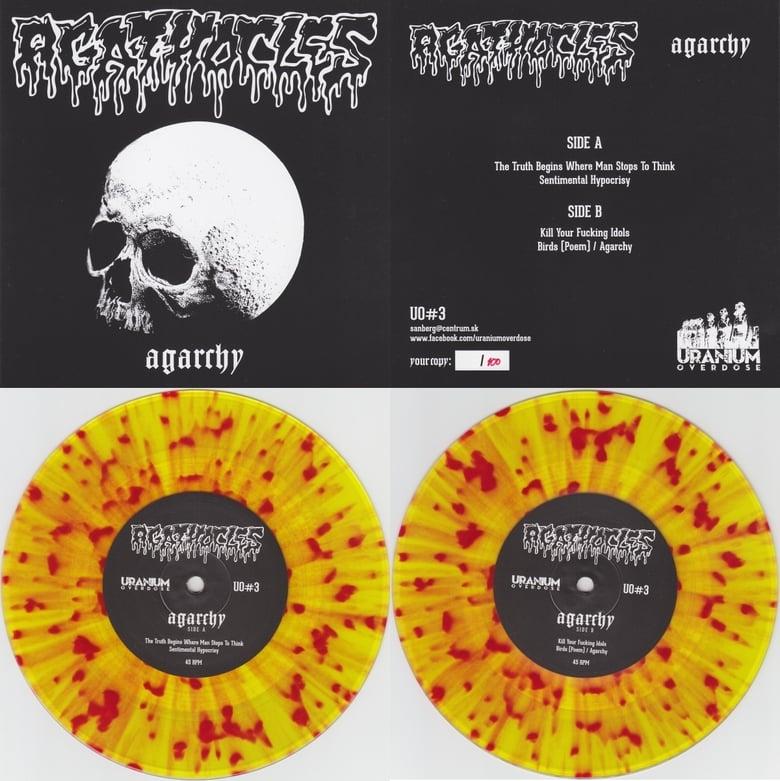 "Image of Agathocles - Agarchy 7"" reissue 2014 (splatter vinyl)"