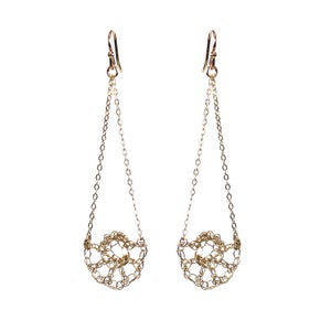Image of Half Shell Swing Earrings