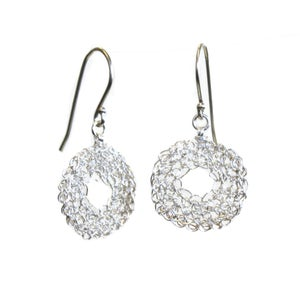 Image of Donut earrings - silver