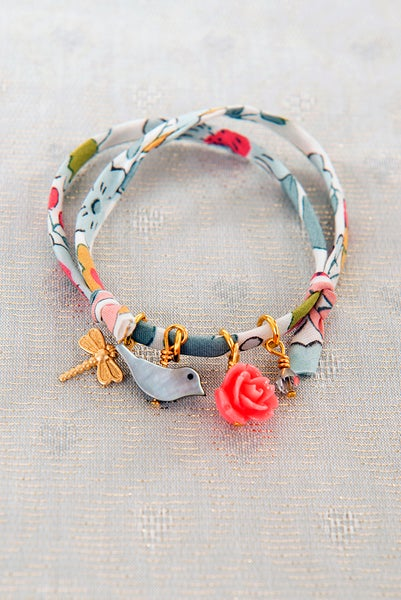 Image of Bird Liberty print bracelet