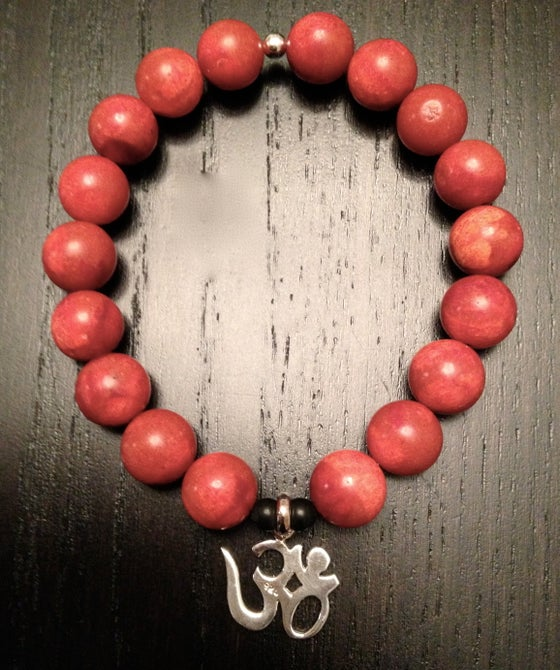 Image of 10MM Red Coral OM Bracelet