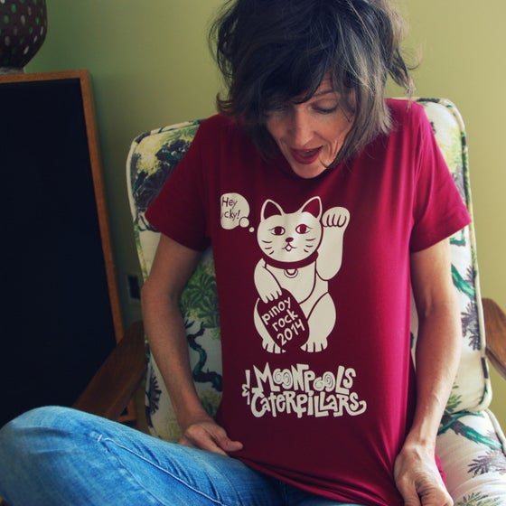 Image of Women's Lucky Cat Pinoy Rock 2014 Tee - LIMITED RELEASE