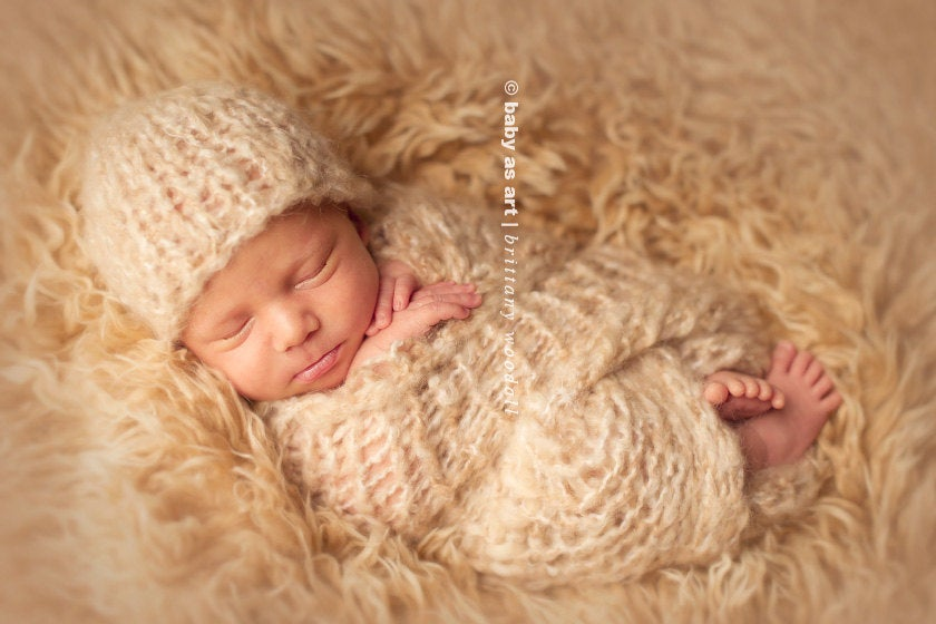Image of {the Dream} Knit Mini Blanket & Headband SET
