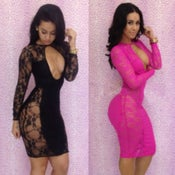 Image of Pink/Black sexy dresses