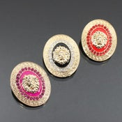 Image of Matching medallion earrings