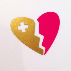 Image of heart breaker - pink/gold