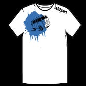 Image of Arkham Van T-Shirt - White/Blue
