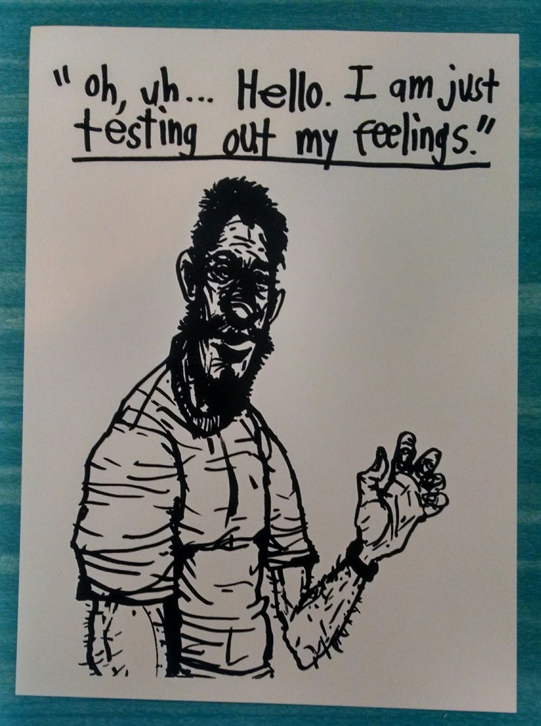 "Image of ""Testing out my feelings"" Silkscreen Print- by:Rich Jacobs"