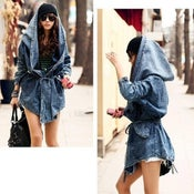 Image of Unique Oversized Denim Hoodie