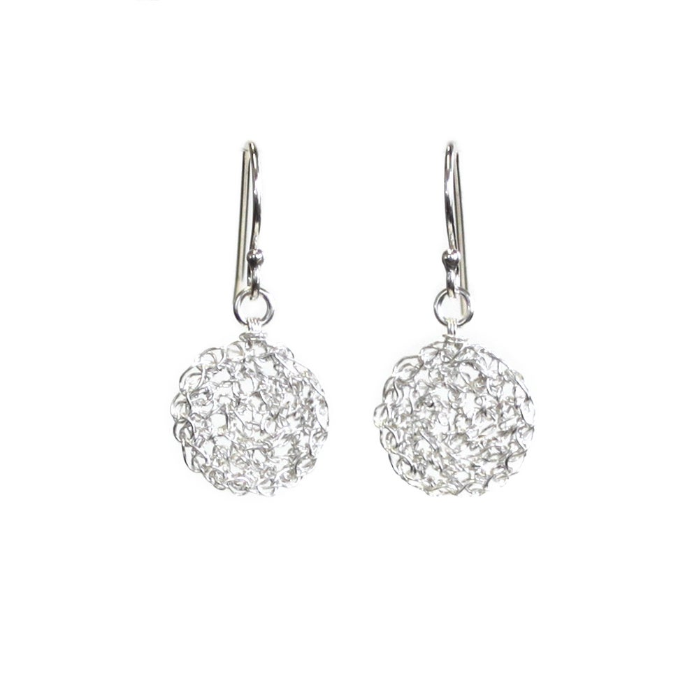 Image of Tiny Silver Dot Earrings