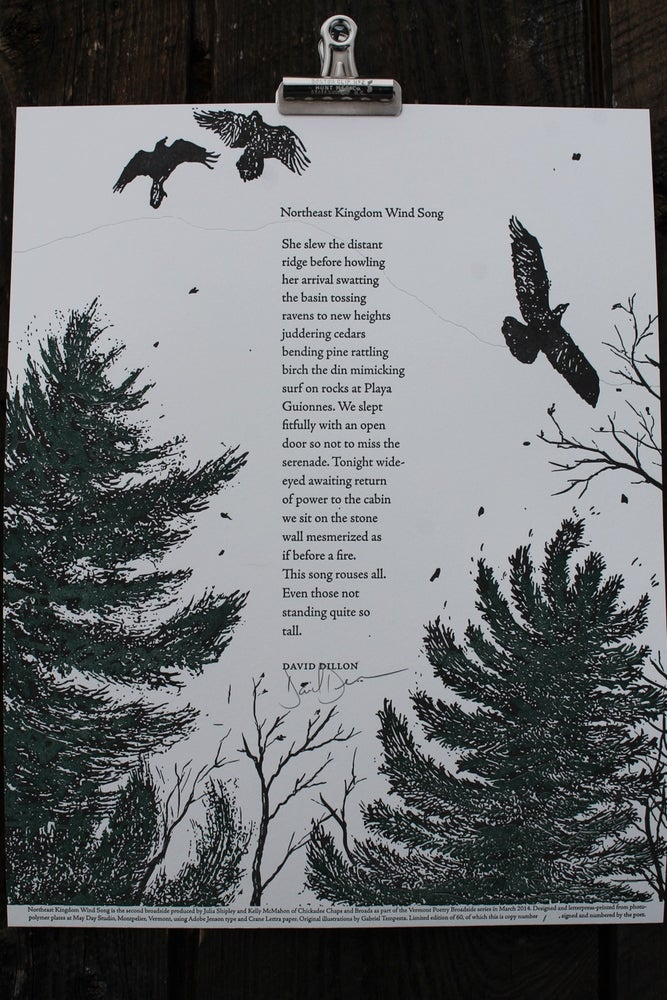 Image of Northeast Kingdom Wind Song Broadside