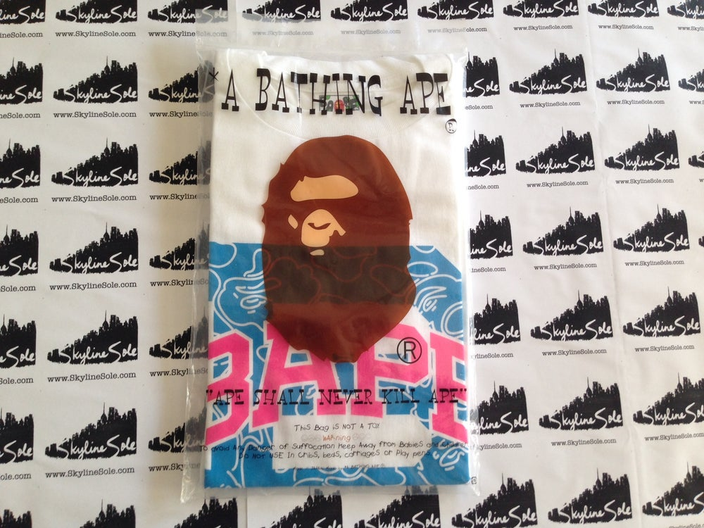 Image of Bape University Cotton candy Camo Tee
