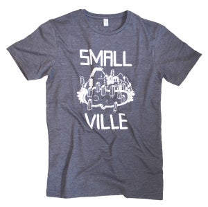 Image of Smallville Shirt Logo- heather blue/ white