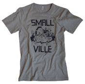 Image of Smallville Shirt Logo- heather grey/ dark blue