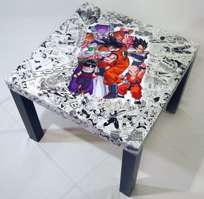 Image of Dragon Ball Z Manga Collage Table