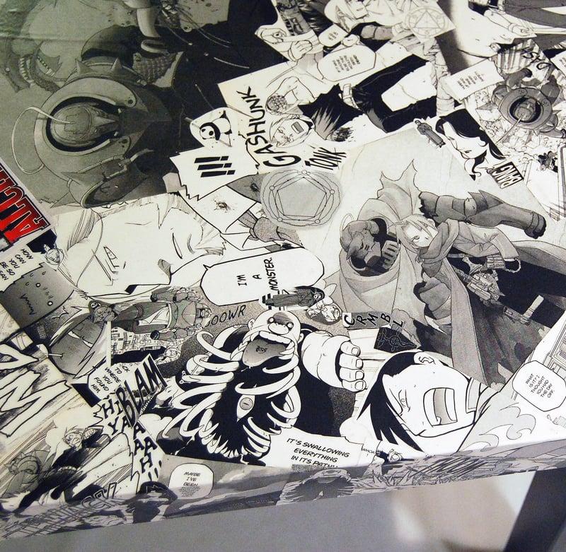 Image of Fullmetal Alchemist Manga Collage Table