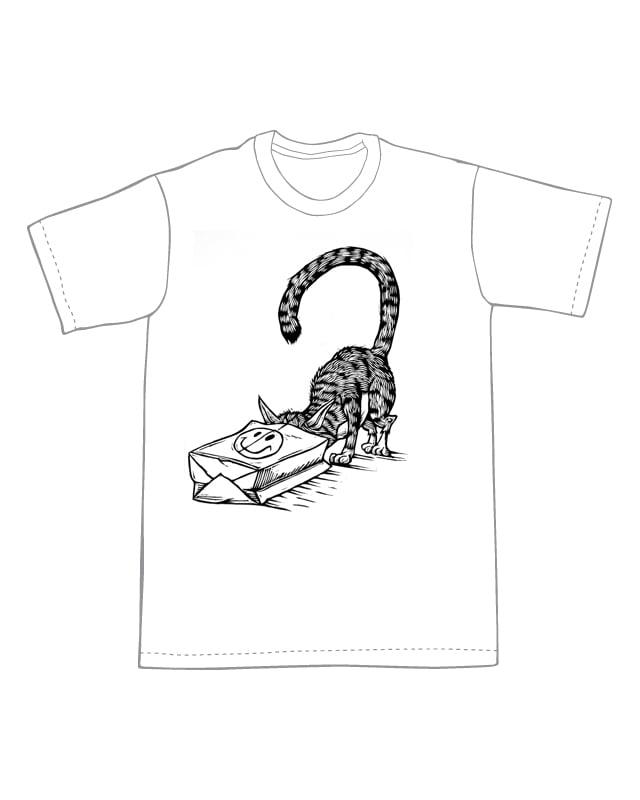 Cat in Bag T-Shirt (A1) **FREE SHIPPING**