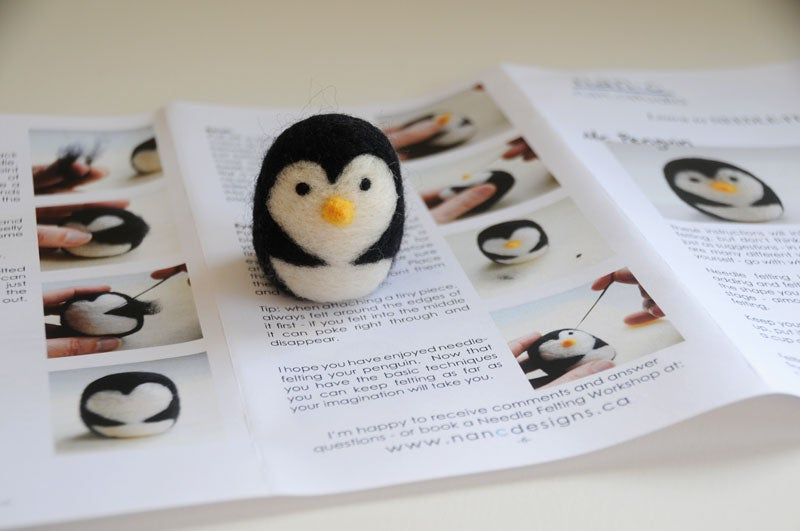 Image of Mr. Penguin - Needle Felting Kit
