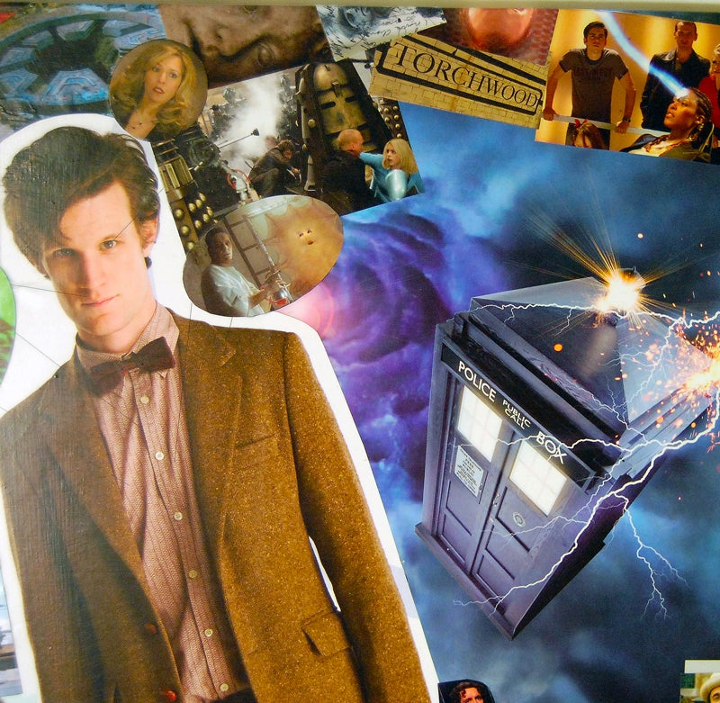 Image of Doctor Who Comic Collage Wall Art