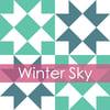 Winter Sky Mini Quilt #110, PDF Pattern