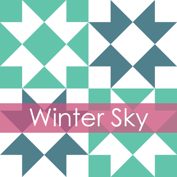 Image of Winter Sky Mini Quilt #110, PDF Pattern
