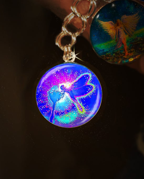 "Image of Blue Dragonfly ""Lifeforce"" Charm"