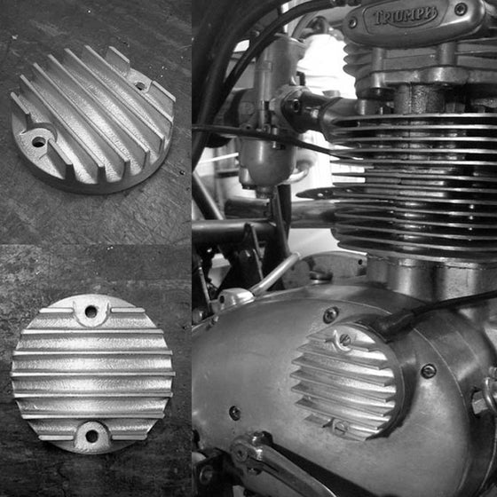 Image of TCC finned point cover for Triumph