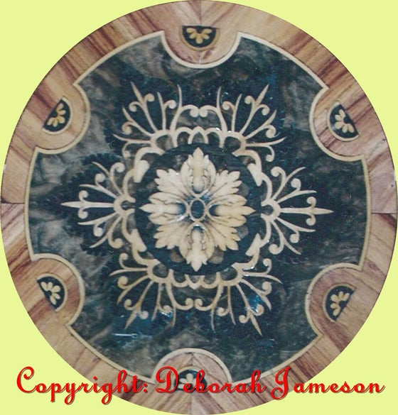 Image of Item No. 710. Highly Inlaid Table Top Marquetry.