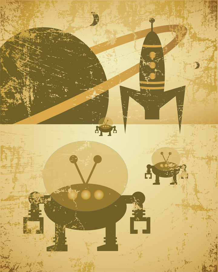 Simply Robots™ Retro Space Collection