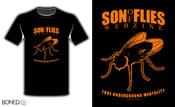 """Image of """"SON OF FLIES WEBZINE t-shirt"""""""