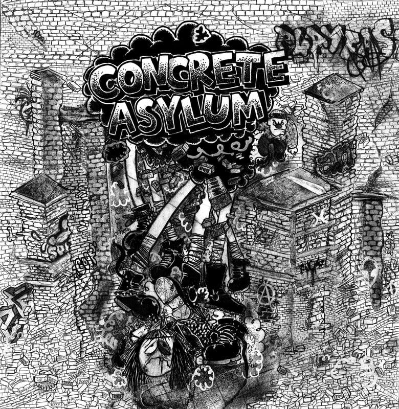 "Image of Concrete Asylum 'Social Anxiety' 7"""
