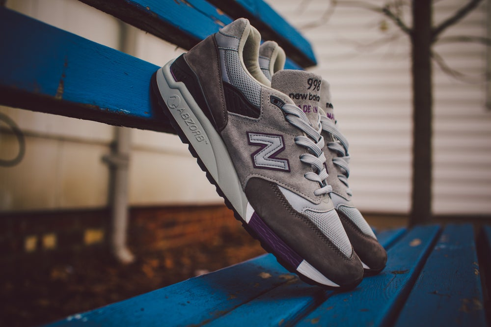 Image of New Balance 998 Made in Usa Grey/Purple