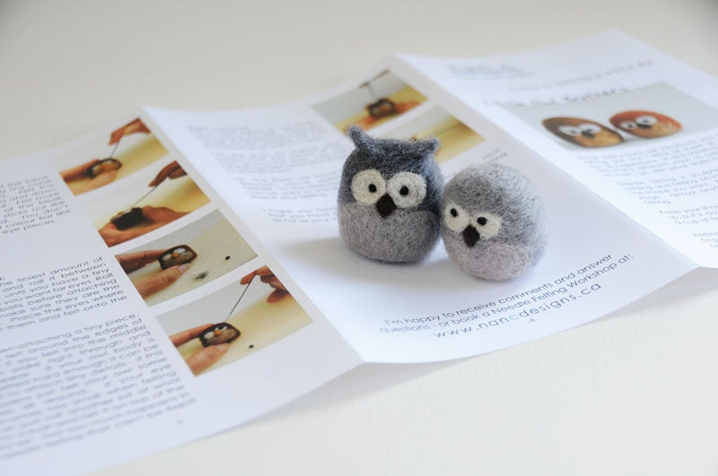 Image of Little Owl Brothers - Needle Felting Kit
