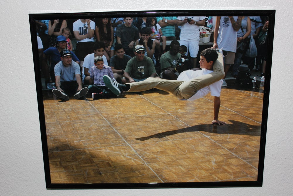 "Image of ""BSM B-Boy"" Framed Print by Krazy Race"