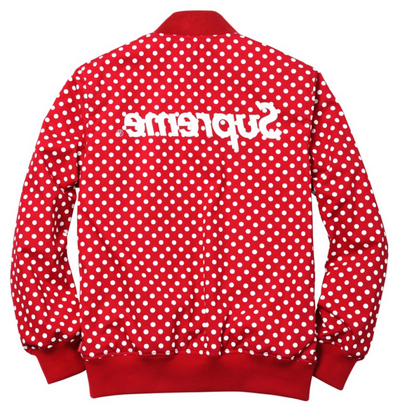 Image of Supreme x CDG Reversible Varsity Baseball Jacket