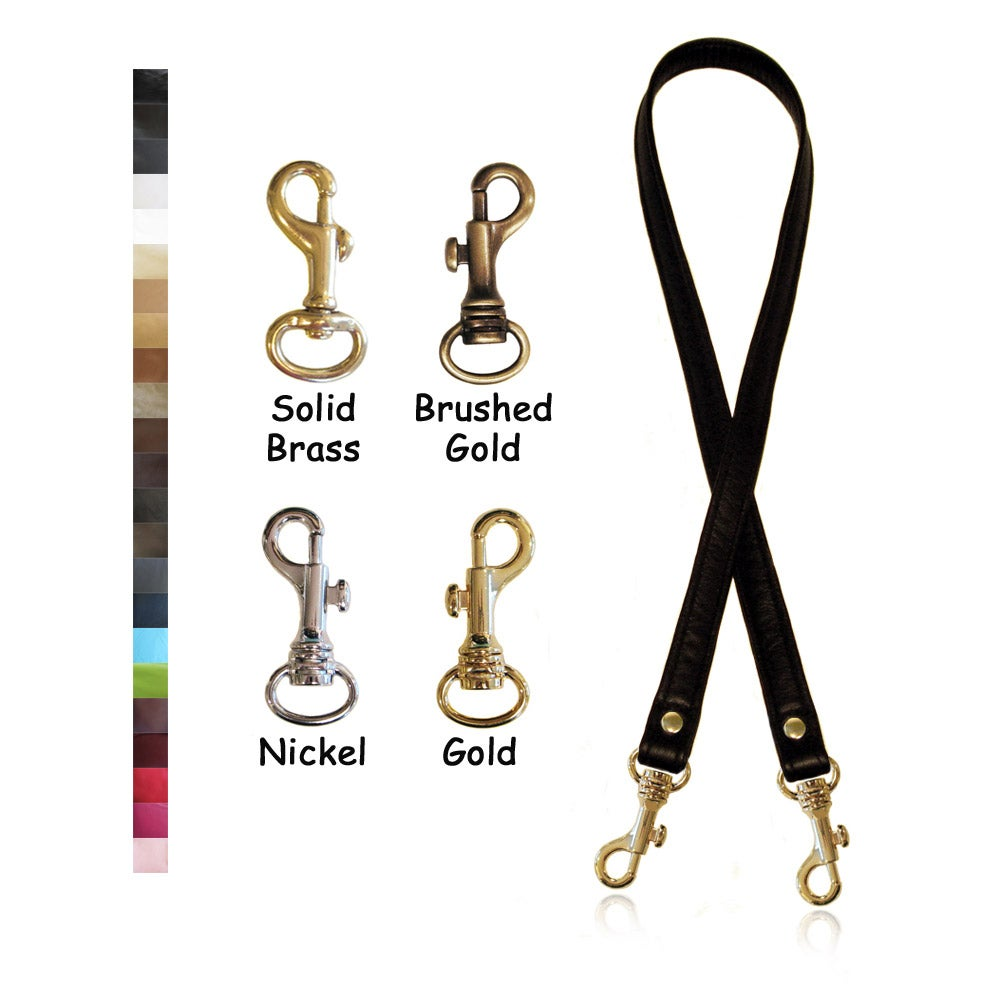 """Image of 40"""" (inch) Long Leather Strap - .75"""" (inch) Wide - Your Choice of Color and Hardware #19"""