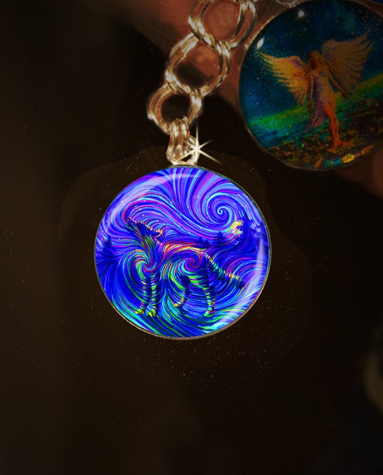 Image of Spirit Wolf Mystical Energy Charm