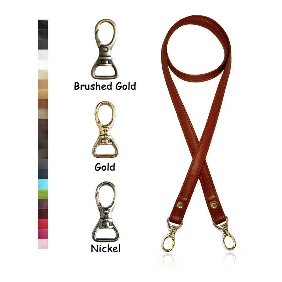 "Image of Crossbody / Messenger Bag Strap - Choose Leather Color - 50"" Length, 3/4"" Wide, #13 Swivel Hooks"