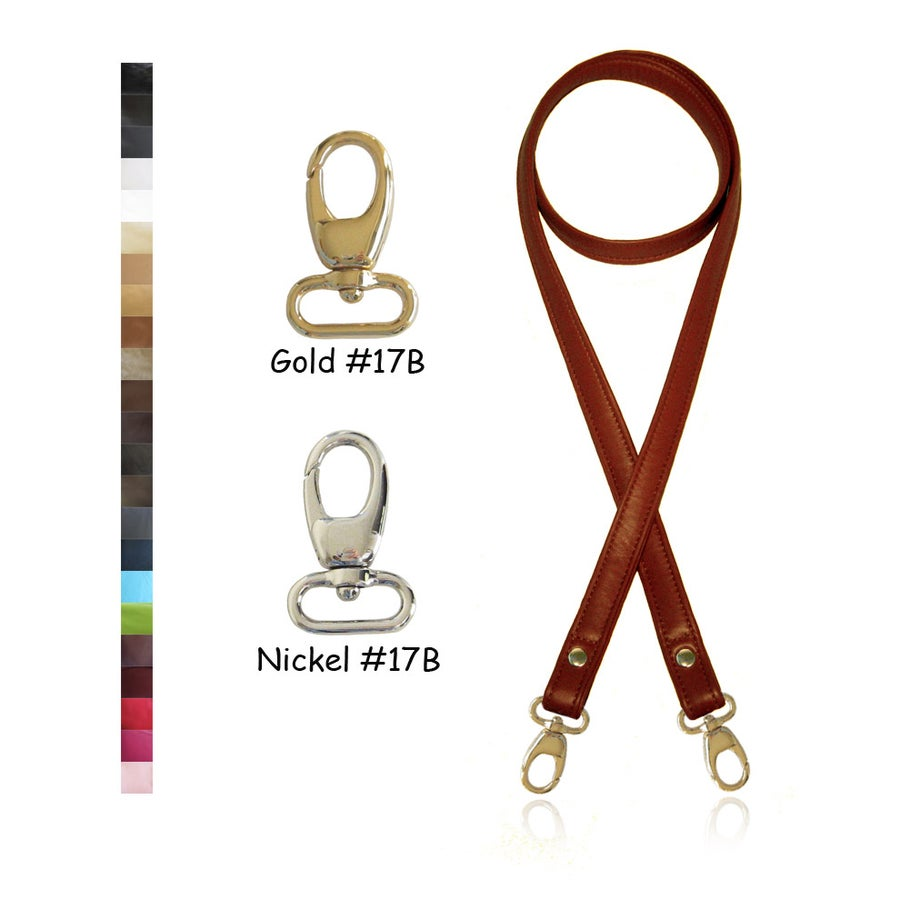 "Image of Crossbody / Messenger Bag Strap - Choose Leather Color - 50"" Length, 3/4"" Wide, #17B Lobster Hooks"