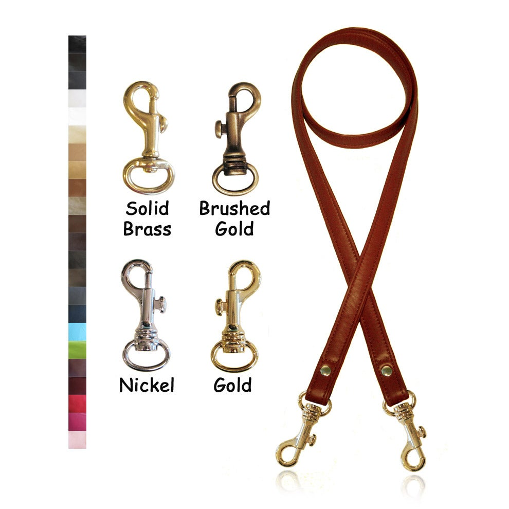"""Image of 50"""" (inch) Long Crossbody Leather Strap - .75"""" (inch) Wide - Your Choice of Color and Hook #19"""