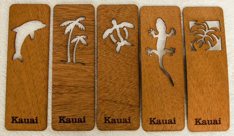 Image of Wood veneer bookmarks