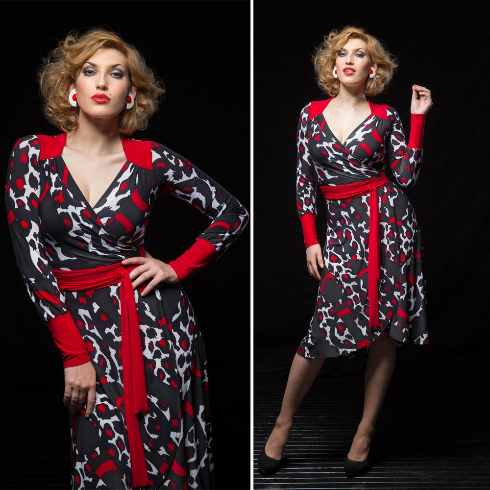 Image of MARGUERITE WRAP DRESS