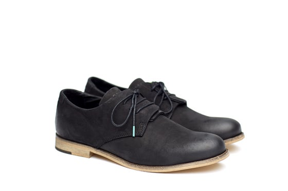 Image of Shoe The Bear & KAOSPILOT Black Overlap Derby shoe