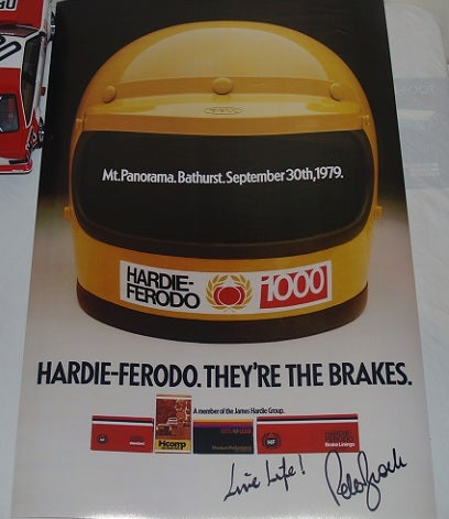 Image of Bathurst 1979 poster - Signed by Peter Brock. Scanned Copy.