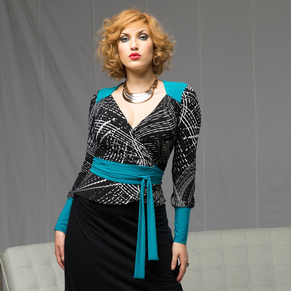 Image of ANNELISE WRAP TOP (other options available)