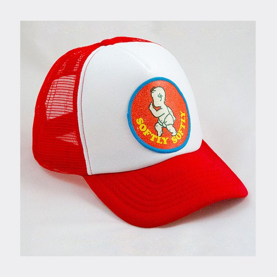 Image of Fairy retro patch on red childrens Truckers Free UK P&P