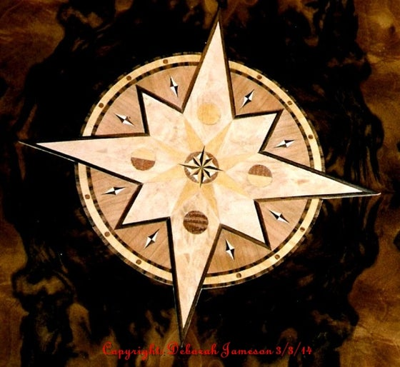 Image of Item No. 276.  Marquetry Inlaid Compass Rose.