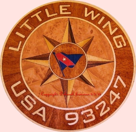 Image of Item No. 300. Personalised Nautical Compass Rose Marquetry.