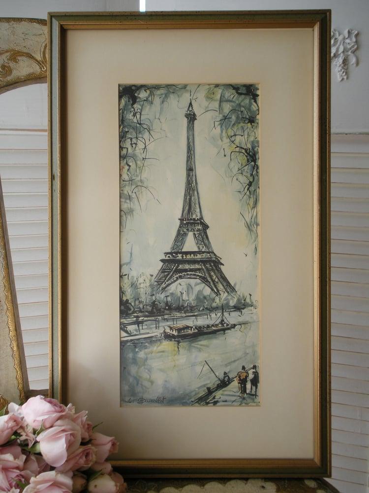 Image of Watercolour La Tour Eiffel